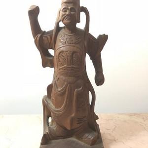5104 民国老木雕 护法