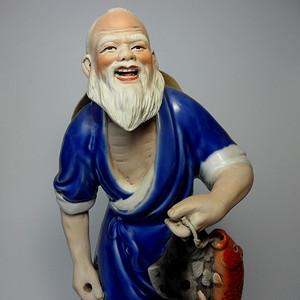 建国初精品人物彩塑瓷像!