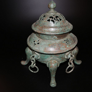 旧藏  精品 乡货qing铜活环熏炉
