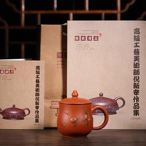 国家级高级工艺美术师倪新安老师力作震撼来袭!  品名 寿桃盖杯 保真包