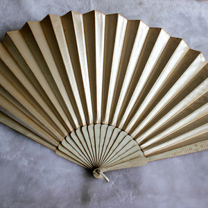 19世纪丝绸大折扇2把