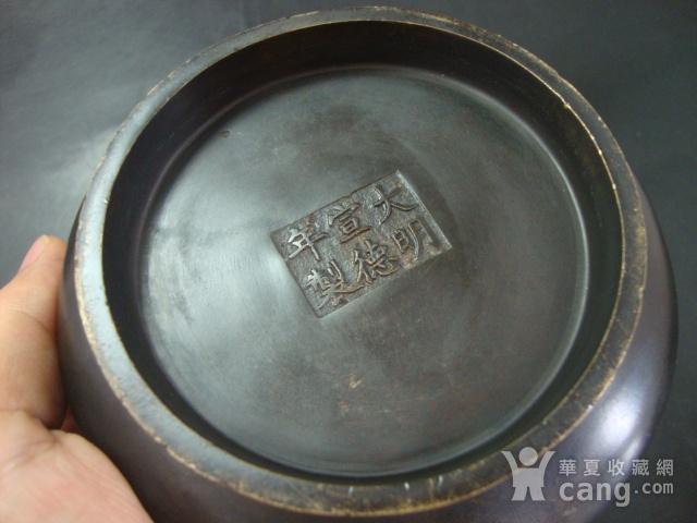 清代大明宣德款,铜狮耳炉图10