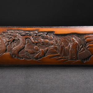 联盟 旧藏红木边竹雕笔阁