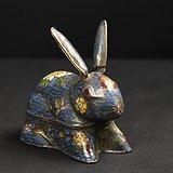 回流景泰蓝宠物兔首饰盒