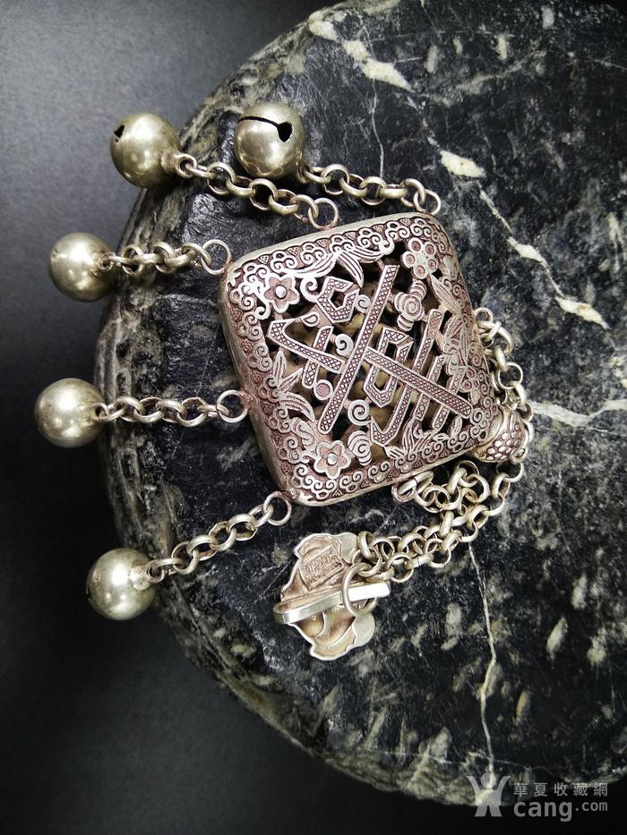 精品 清代老银 福祷纹香曩 挂饰图2