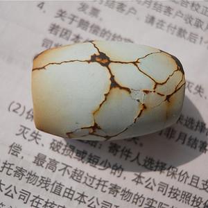 原矿松石桶珠