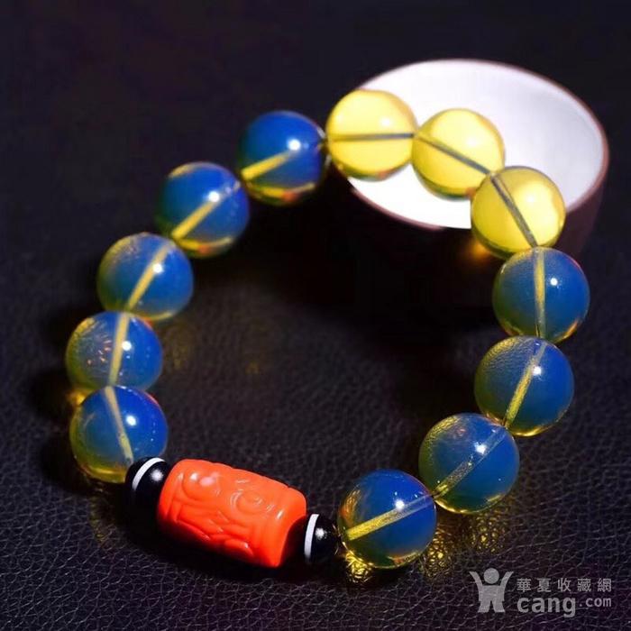 联盟  顶级多米尼加天空蓝手链与珊瑚桶珠的完美搭配图1