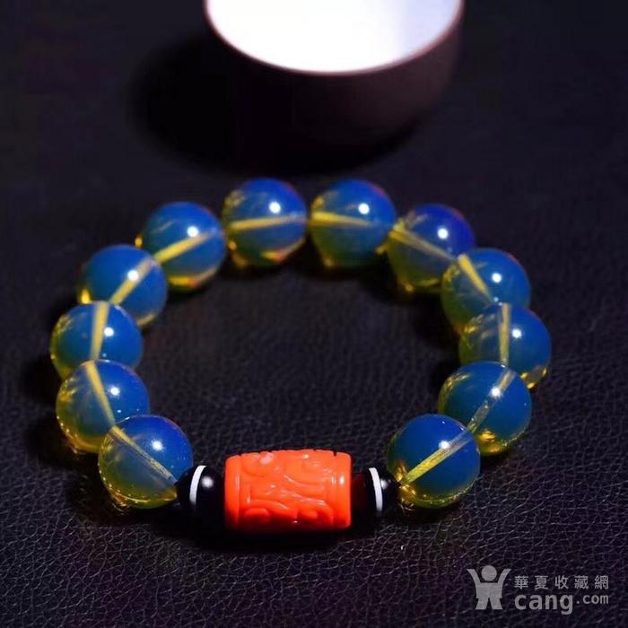 联盟  顶级多米尼加天空蓝手链与珊瑚桶珠的完美搭配图4