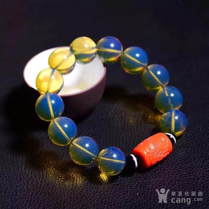 联盟  顶级多米尼加天空蓝手链与珊瑚桶珠的完美搭配图5