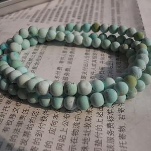 原矿松石圆珠项链