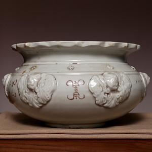 藏海淘 德化窑五福临门大香炉 C109