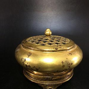 欧洲回流鎏金铜香炉