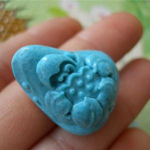 原矿松石雕件