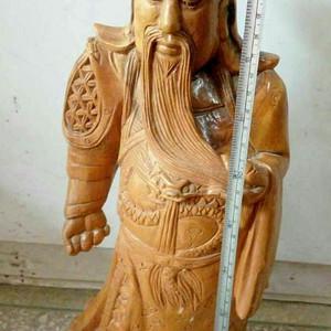 木雕关公摆件