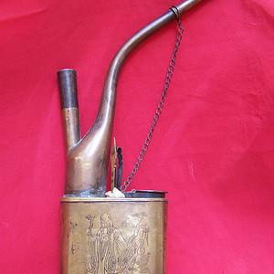 清代铜水烟枪