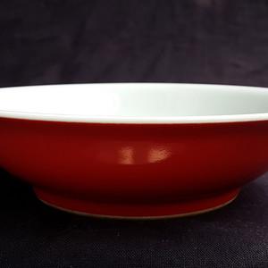 4  光绪款珊瑚红釉盘