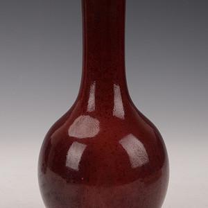 欧洲回流豇豆红釉天球瓶