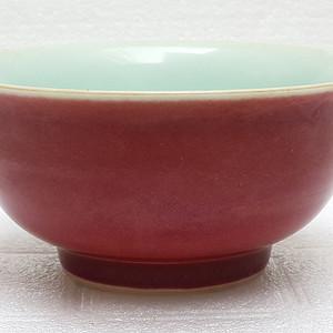 联盟 御膳房青花款珊瑚红宫碗