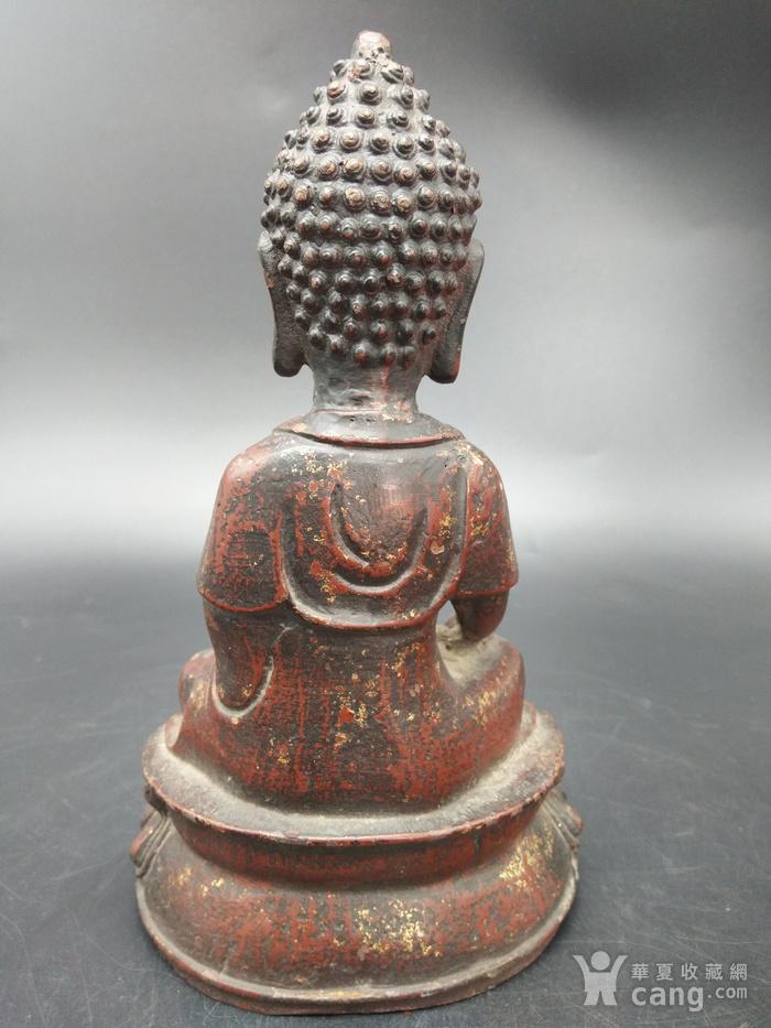 清代铜镏金佛像图2