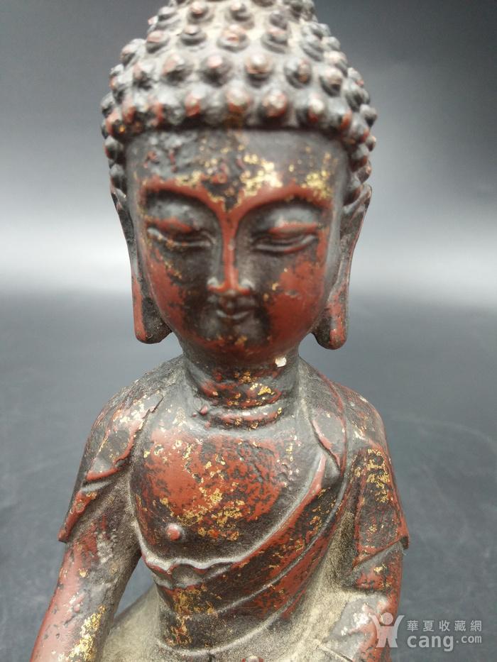 清代铜镏金佛像图9