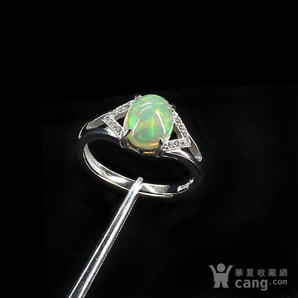 天然欧泊戒指 银镶嵌6591图4