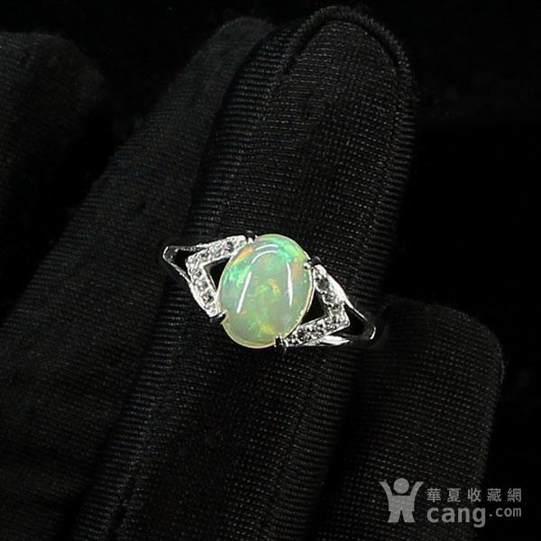 天然欧泊戒指 银镶嵌6591图6