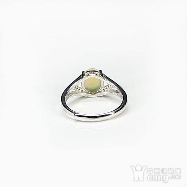 天然欧泊戒指 银镶嵌6591图8