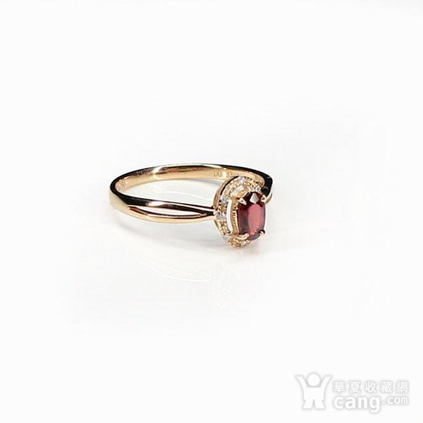 18K玫瑰金镶钻天然红宝石戒指6580图3