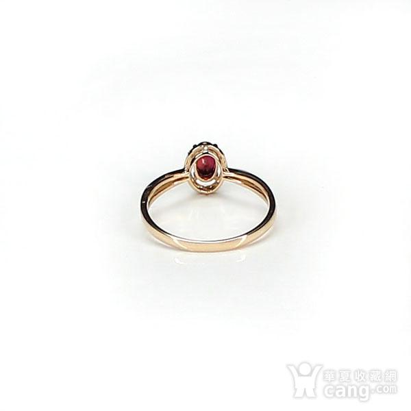 18K玫瑰金镶钻天然红宝石戒指6580图8