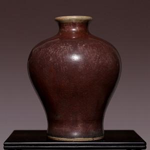 藏海淘 清乾隆红釉小梅瓶  HX27