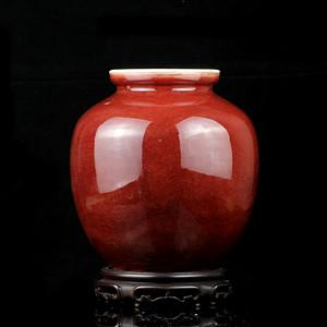 26清祭红釉石榴尊