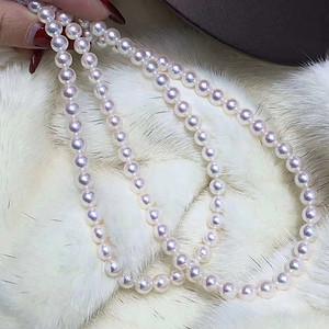 天然海水珍珠项链假一赔万送国检证书7.5mm无暇款