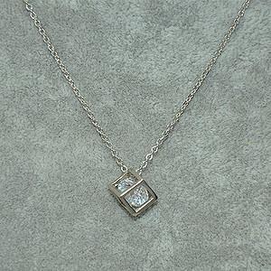 3.2克镶水晶吊坠项链