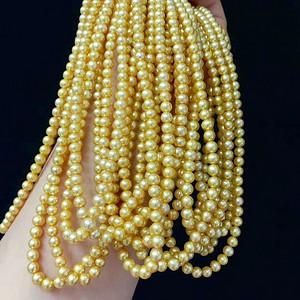 天然海水珍珠项链假一赔万送国检证书4.5mm无暇款