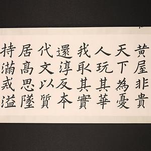 范中光,书法