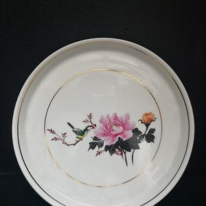 文革 粉彩花卉茶盘