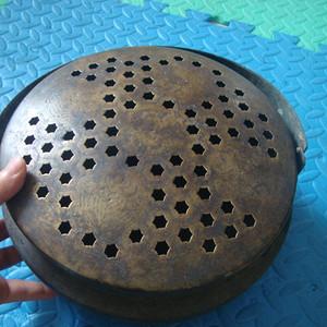 原生皮壳,清民老铜手炉