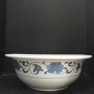 70年代 人民瓷厂青花汤钵