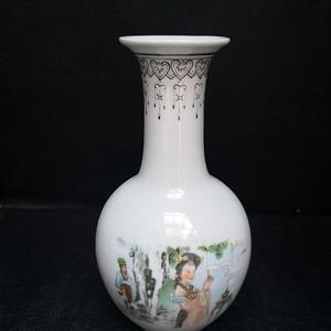 欧洲回流 50年代 艺术瓷厂新粉彩赏瓶