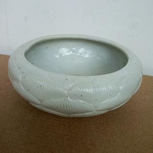 联盟 民国白釉雕瓷连花笔洗