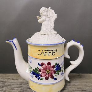 欧洲回流  英国粉彩雕塑茶壶