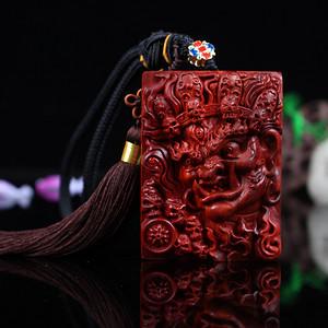 联盟 收藏级印度小叶紫檀泥料手工雕栩栩如生大黑天6x8牌子