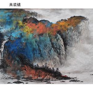 《峡江秋艳图》