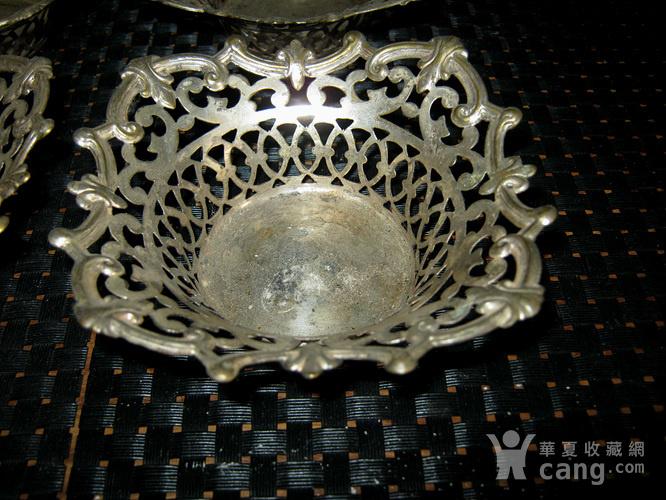 民国铜鎏银杯托图2