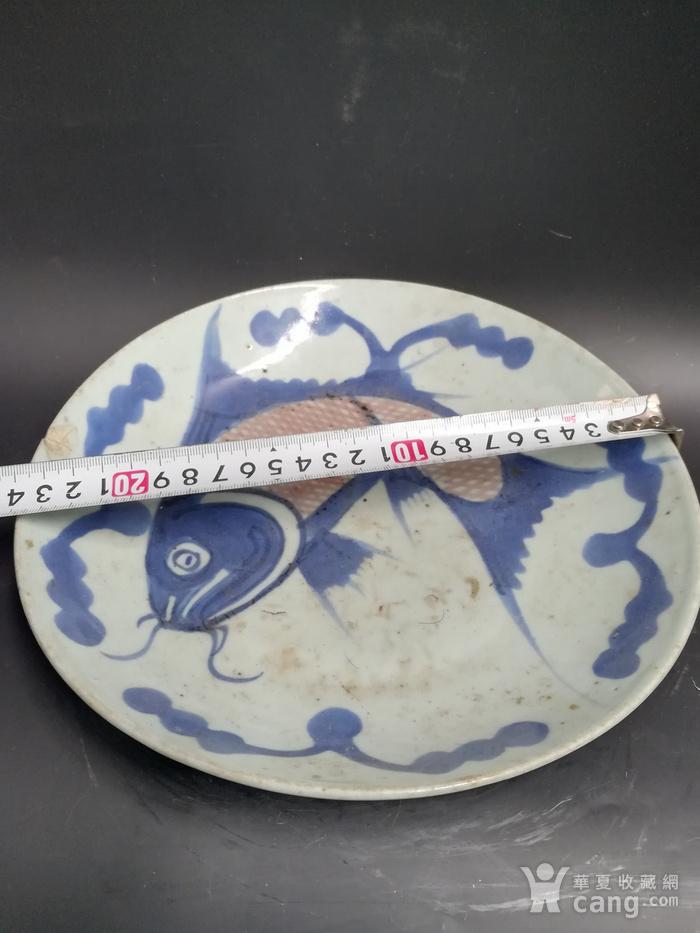 青花鱼盘子图1