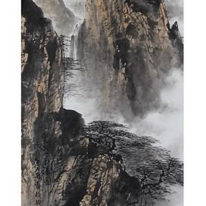《云壑飞瀑图》