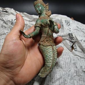 回流泰国17世纪人身鱼尾老造像