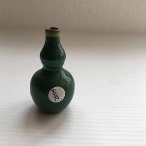 晚清绿釉葫芦瓶
