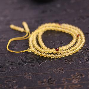 联盟 原矿天然波罗的海蜜蜡圆珠108颗多圈手链