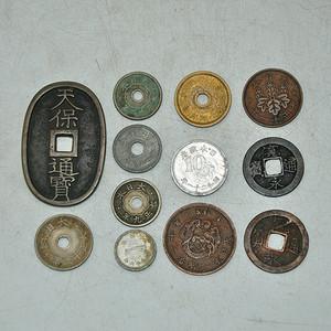 日本老钱币十二枚